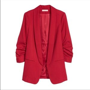 H&M suit Red. Blazer and slacks size CA 4